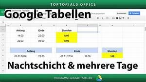 Laufstrecke Berechnen Google Maps : stunden berechnen bei nachtschicht oder ber mehrere tage google tabellen toptorials ~ Themetempest.com Abrechnung