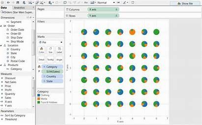 Pie Tableau Chart Trellis Charts Axis Label