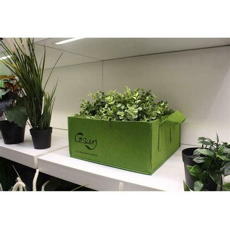 cesun square grow planter bag heavy duty  fabric pots aeration fabric cube buy pots