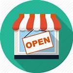 Icon Retail Boutique Market Icons Open Transparent