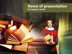 English Literature Presentation Template For Powerpoint