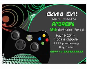 video game invite game party invitation gamer video game With xbox wedding invitations