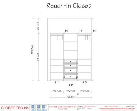 reach in closet 3d cad design closet tec inc