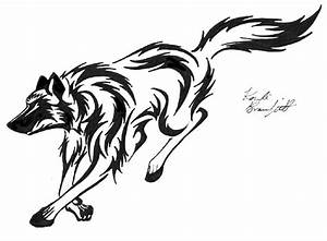 Tribal Wolf Running