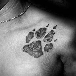 70 Dog Paw Tattoo Designs For Men - Canine Print Ink Ideas