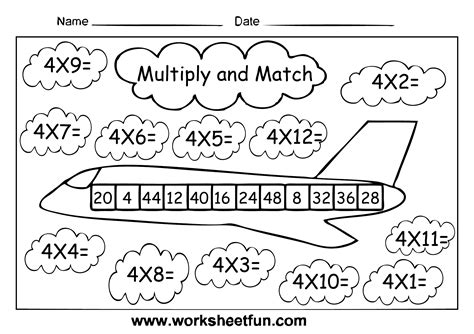 2 times table worksheet multiply and match multiplication activity multiply by