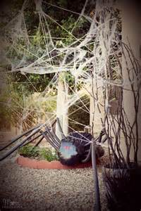 diy yard decor spider in spiderweb