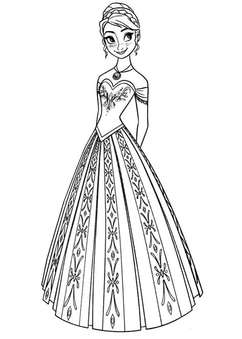 anna  frozen coloring pages frozen anna coloring