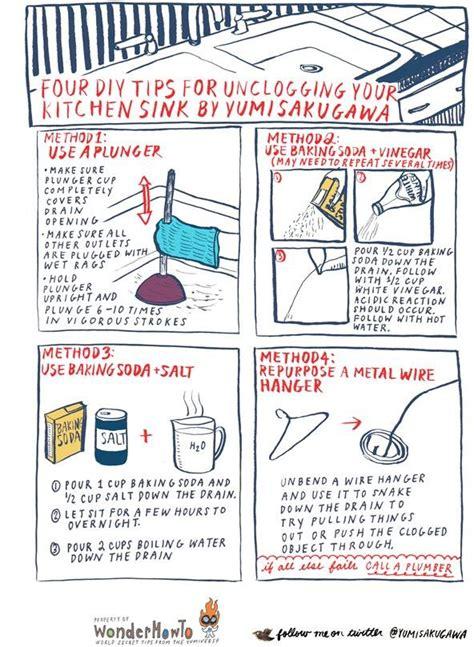 diy ways  unclog  kitchen sink  secret yumiverse