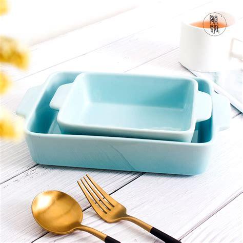 custom rectangular bakeware set porcelain baking pan ceramic baking tray lasagna pans