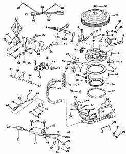 Johnson Ignition System Parts For 1988 40hp J40elccs Outboard Motor