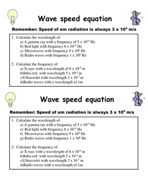 wave speed calculations worksheet worksheets wave speed worksheet opossumsoft worksheets