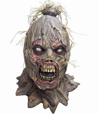 Scarecrow Mask Halloween Zombie Adult Latex Horror