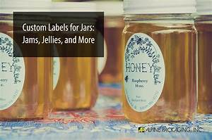 Custom labels for jars jams jellies more alpine for Custom printed labels for jars