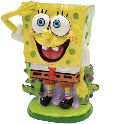 spongebob fish tank ornaments penn plax spongebob squarepants aquatic ornament petco