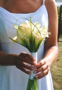 White Calla Lilies Bridesmaids Bouquets