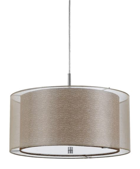 drum shade light fixtures double shade sheer fabric burlap modern drum pendant