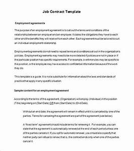 employee contract templates free templates resume With workers contract template