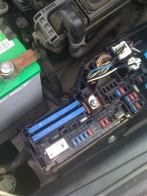 blew cigarette lighter the fuse box under the hood loud