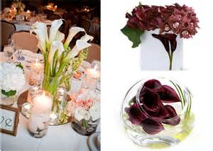 affordable wedding flowers calla wedding flowers affordable wedding reception centerpieces onewed