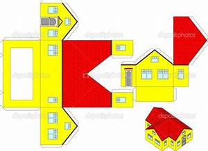 printable paper house craft templates printable 3d paper ...