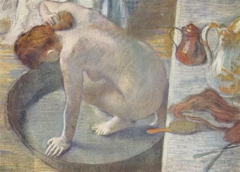 the tub by edgar degas