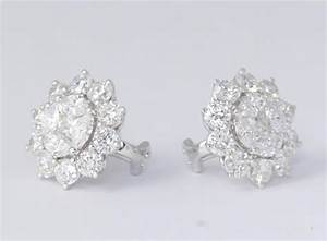 Unique Diamond Illusion Stud Earrings with Halo Design For ...