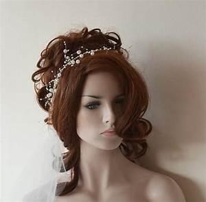 Wedding Pearl Headband Pearl Tie Headband For Weddings