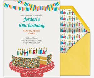 Free Kids Birthday Invitations & Online Invites for Children