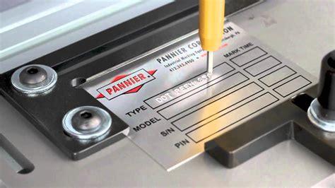 engraver tool metal tag sting and engraving machine