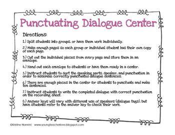 teaching dialogue in writing freebie by kristine