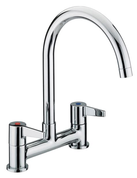 sink taps kitchen bristan design utility kitchen deck lever handles sink 2280