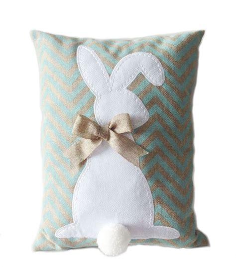 burlap easter bunny pillow blue easter pinterest
