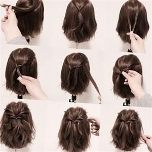 Coiffure Mariage Facile Cheveux Mi Long : chignon facile cheveux mi long ~ Nature-et-papiers.com Idées de Décoration
