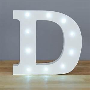 Light up letter d home decor barbours for Letter d home decor