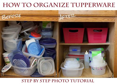 Kitchen Cupboard Makeover Ideas - how to organize your tupperware cupboard for a couple bucks 5 easy steps eating richly