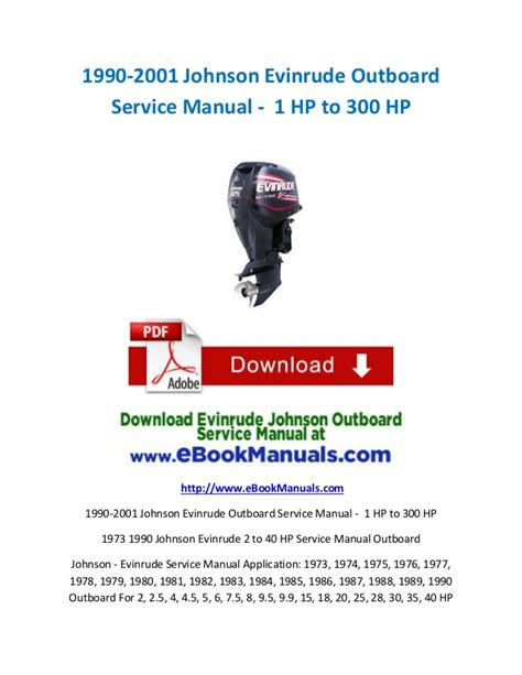 small engine repair manuals free download 1987 mercury topaz transmission control 1990 2001 johnson evinrude outboard service manual 1 hp to 300 hp