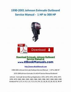 1990-2001 Johnson Evinrude Outboard Service Manual