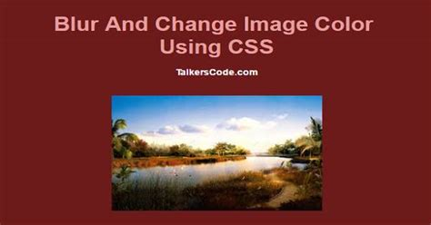 updated blur  change image color  css