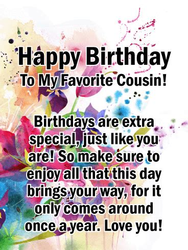fun today happy birthday card  cousin birthday