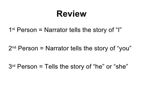 Resume 1st Or 3rd Person by 1st 3rd Person Narrative Classslides