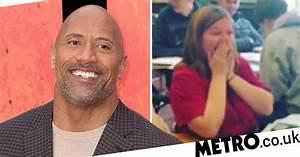 Dwayne 'The Rock' Johnson surprises school girl who asked ...