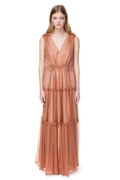 Maxi Chatarina Casally catherine silk maxi dress in toffee diana arno ss19