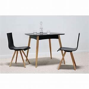 Table A Manger : torens noir table manger carr en bois naturel design scandinave ~ Teatrodelosmanantiales.com Idées de Décoration