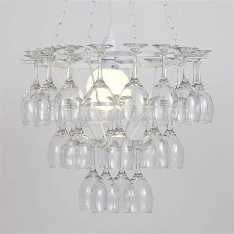 3 tier wine glass chandelier white from litecraft