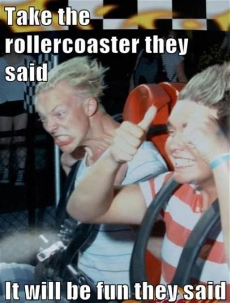 Roller Coaster Meme - funny faces on roller coasters dump a day