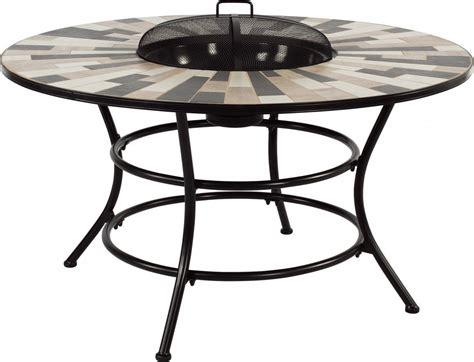 Dreams4home Gartentisch 'luke'  Tisch Mit Feuerstelle