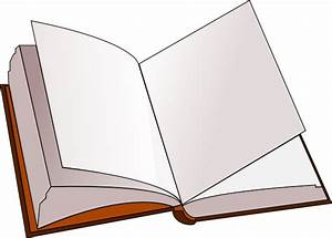 Open Book With Blank Pages Clip Art at Clker.com - vector ...