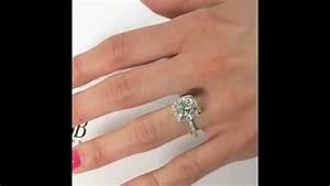 4 carat diamond engagement ring on hand diamondstud With 4 carat wedding ring