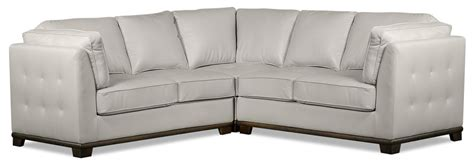 Oakdale Sofas by Oakdale 3 Leather Look Fabric Sectional Beige Sofa